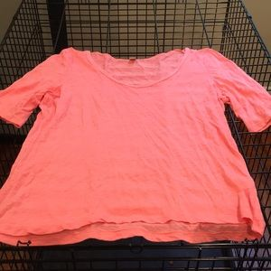 J Crew tissue tee coral colored